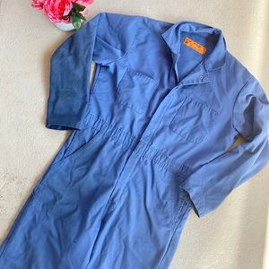 Vintage Light Blue Long Sleeve Coveralls